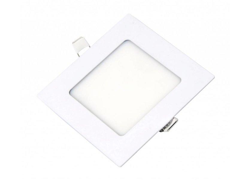 Vierkante LED inbouwspot 120 x 120 x 15 mm - 6 Watt - 3000K - Crius