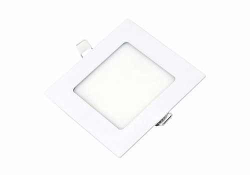 Vierkante LED inbouwspot 120 x 120 x 15 mm - 6 Watt - 3000K