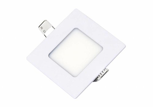 Vierkante LED inbouwspot 85 x 85 x 15 mm - 3 Watt - 3000K