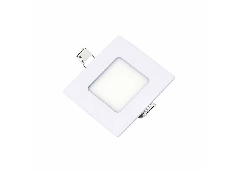 Vierkante LED inbouwspot 85 x 85 x 15 mm - 3 Watt - 3000K - Crius
