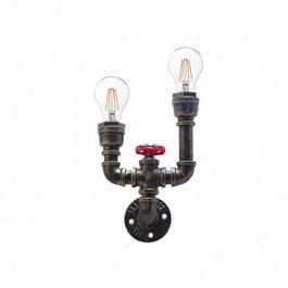 Funnylights Industriële 2-lichts Wandlamp Tap - Funnylights Nidoran