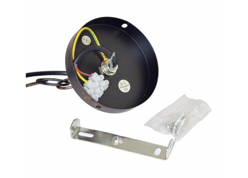 Industriële Rode Hanglamp - Scaldare Tovo