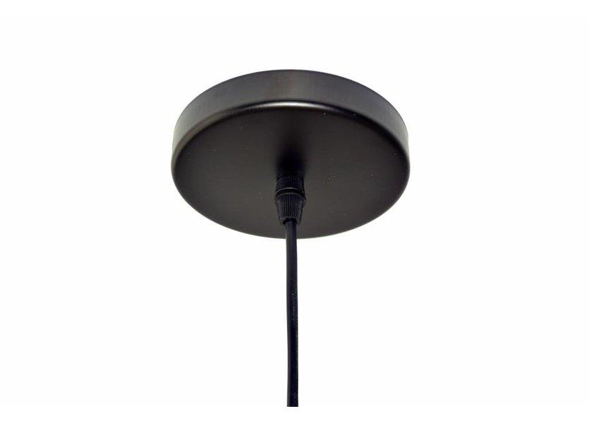Koepelvormige zwarte hanglamp
