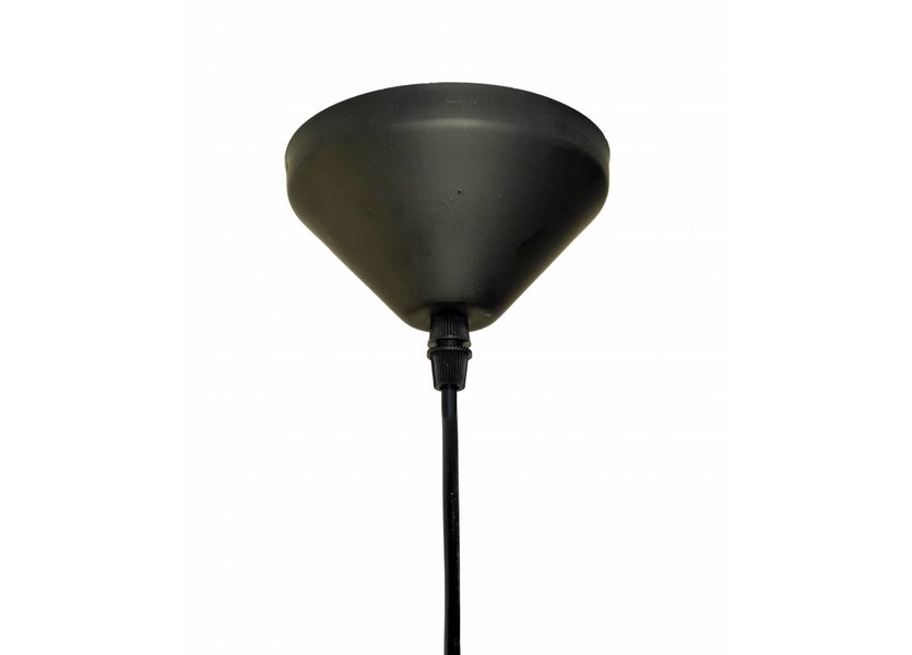 Zwarte Kegelhanglamp met Goudkleurige Binnenkant – Valott Mo