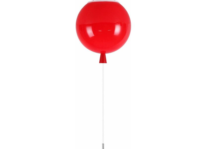 Plafondlamp Ballon Rood Groot inclusief 4W LED lamp - Funnylights