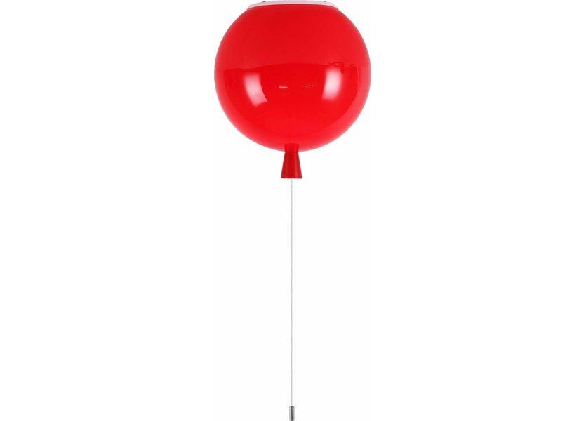 Plafondlamp Ballonlamp Rood Groot inclusief 4W LED lamp - Funnylights