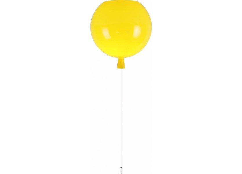 Plafondlamp Ballon Geel Groot inclusief 4W LED lamp - Funnylights