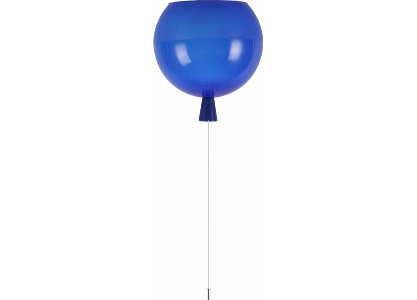 Plafondlamp Ballon Blauw Groot inclusief 4W LED lamp - Funnylights