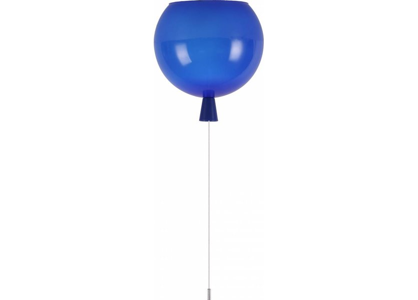Plafondlamp Ballonlamp Blauw Groot inclusief 4W LED lamp - Funnylights
