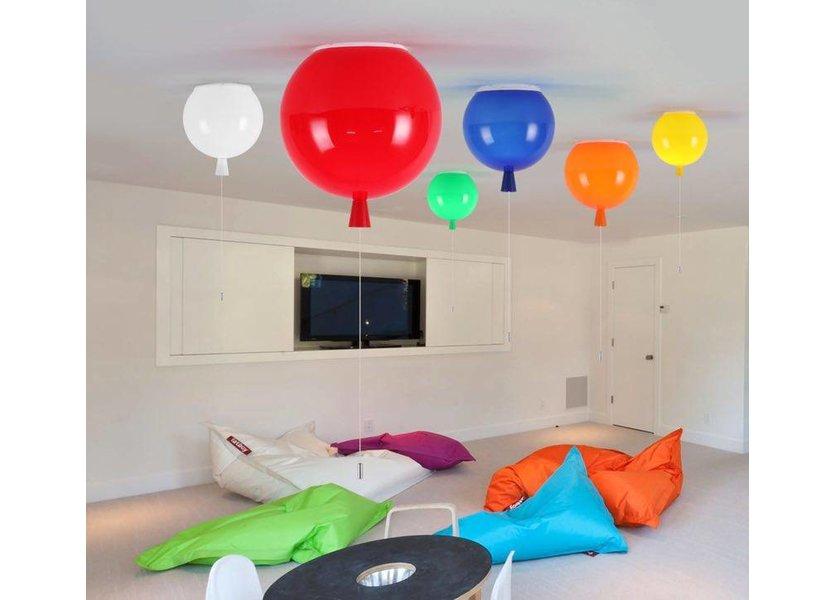 Plafondlamp Ballonlamp Rood Middelgroot inclusief 4W LED lamp - Funnylights
