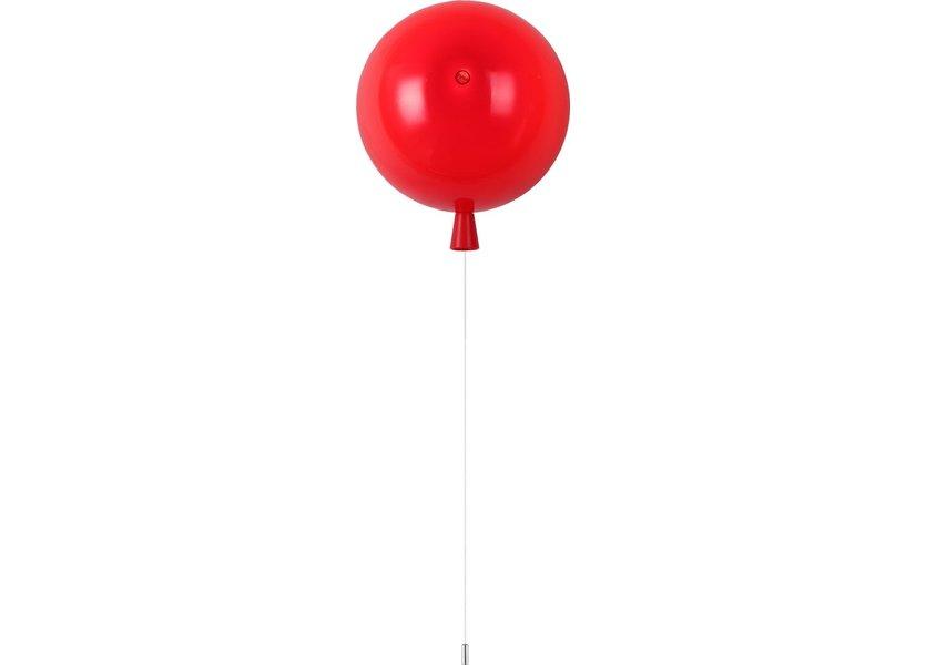 Wandlamp Ballon Rood Groot inclusief 4W LED lamp - Funnylights