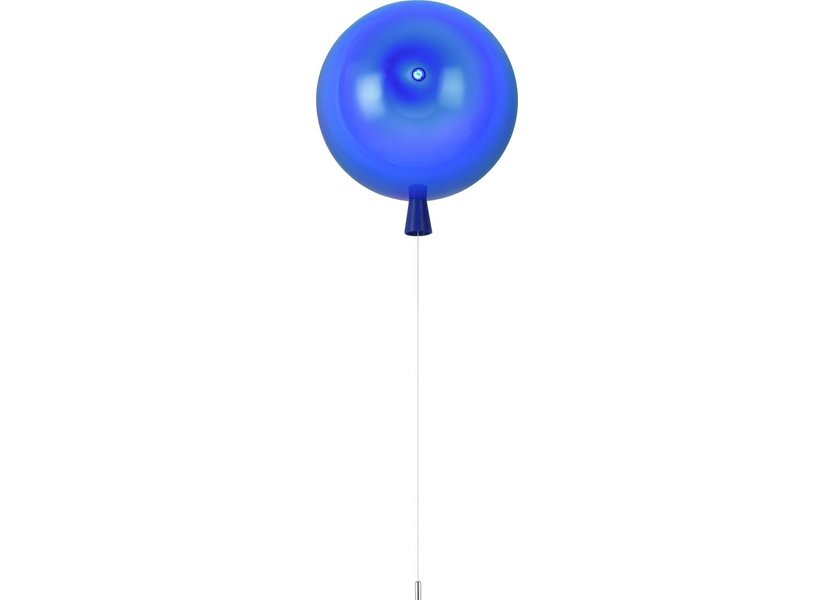 Wandlamp Ballon Blauw Groot inclusief 4W LED lamp - Funnylights