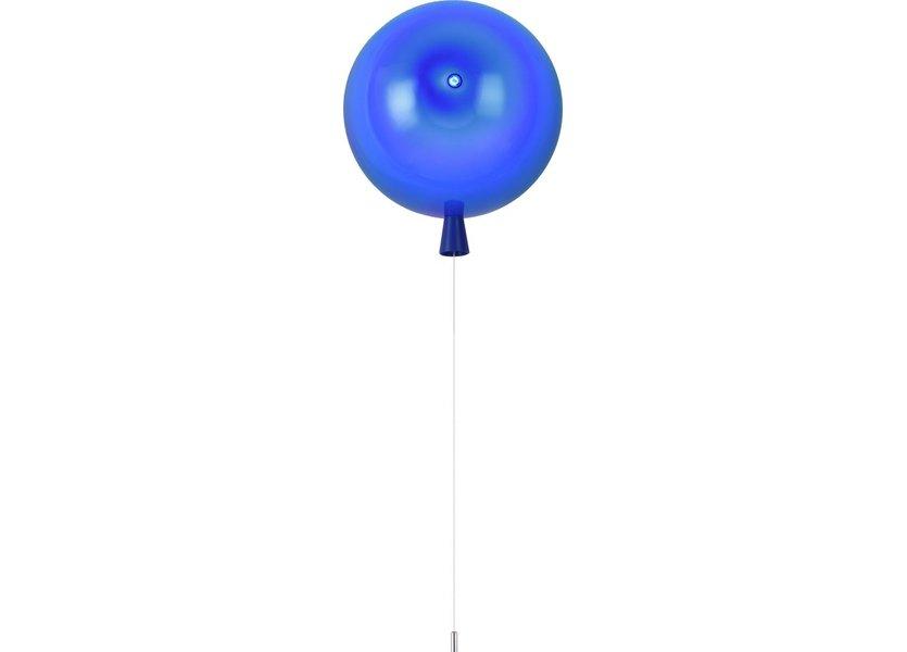 Wandlamp Ballonlamp Blauw Middelgroot inclusief 4W LED lamp - Funnylights
