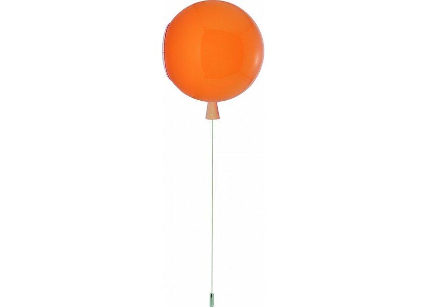 Wandlamp Ballon Oranje Middelgroot inclusief 4W LED lamp - Funnylights