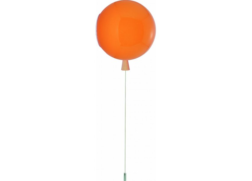 Wandlamp Ballonlamp Oranje Middelgroot inclusief 4W LED lamp - Funnylights