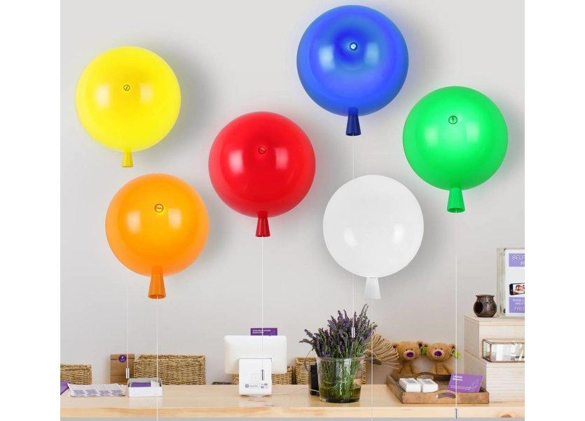 Wandlamp Ballon Blauw Middelgroot inclusief 4W LED lamp - Funnylights