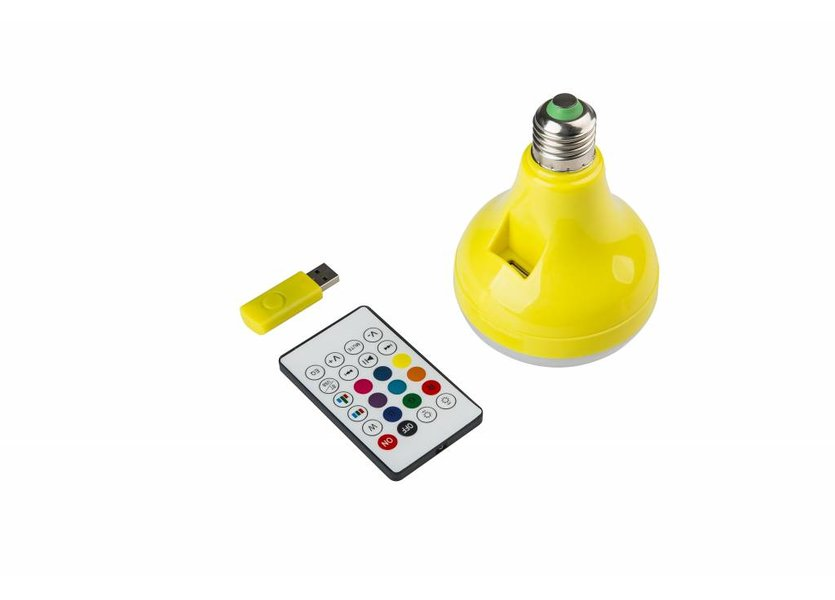 RGB LED Speakerlamp Bluetooth 12W Geel  E27 - Funnylights Uxie