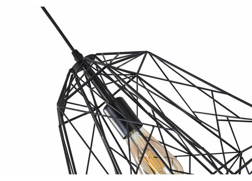 Hanglamp Draadstaal Zwart - Scaldare Calavena