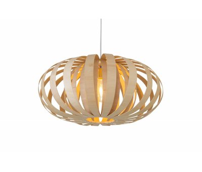 Madera Hanglamp Hout Rond Houtkleur 58 cm - Madera Roble