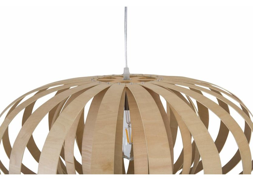 Hanglamp Hout Rond Houtkleur 58 cm - Madera Roble