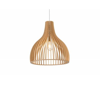 Madera Hanglamp Hout Rond Houtkleur 35 cm - Madera Guarida