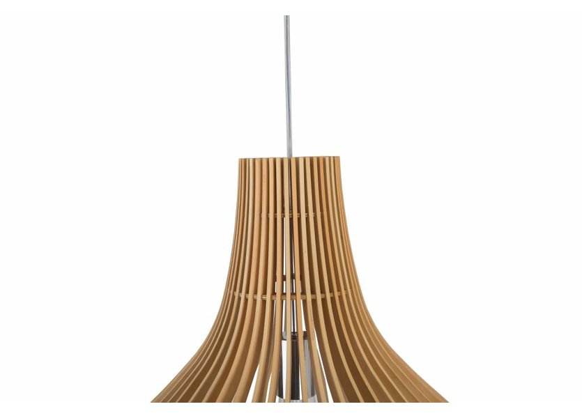 Hanglamp Hout Rond Houtkleur 35 cm - Madera Guarida