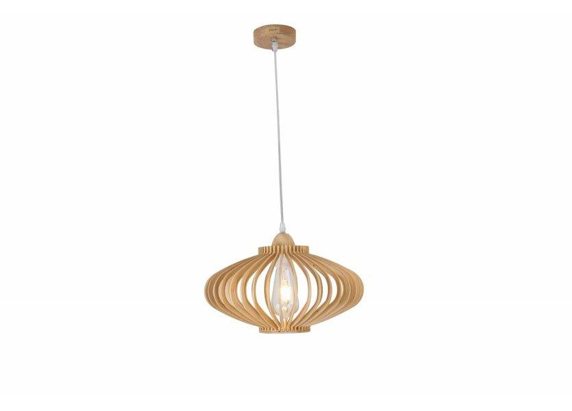 Hanglamp Hout Rond Houtkleur 36 cm - Madera Est