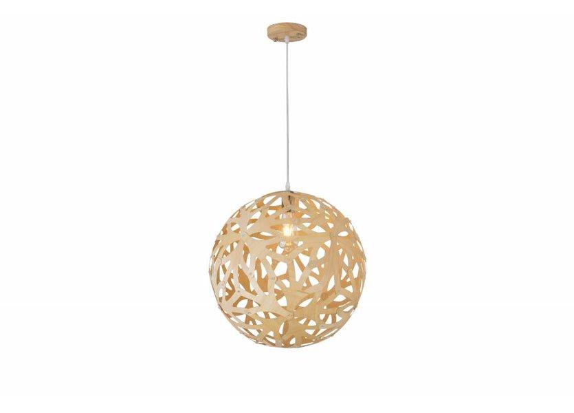 Hanglamp Hout Rond Houtkleur 45 cm - Madera Pino