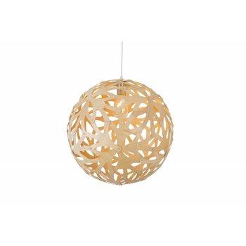 Madera Hanglamp Hout Rond Houtkleur 45 cm - Madera Pino