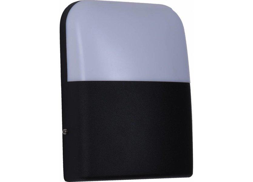 Moderne Buitenwandlamp Vierkant Zwart incl. LED - Garleds Jasmijn