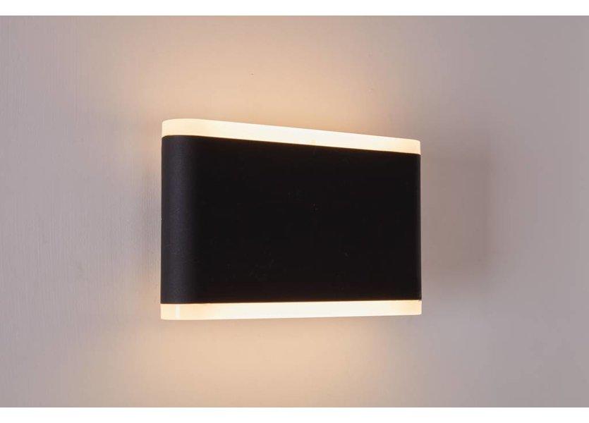 Moderne Buitenwandlamp up down Zwart incl. LED - Garleds Vuurdoorn