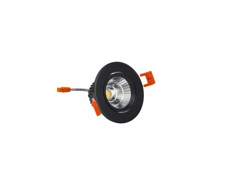 Verstelbare Ronde Zwarte LED Downlight - Crius