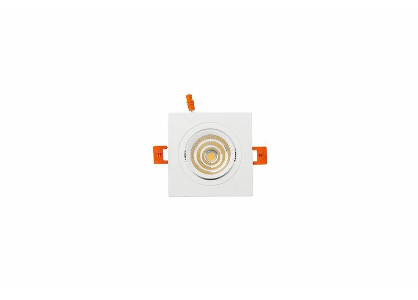 Verstelbare vierkante witte downlight
