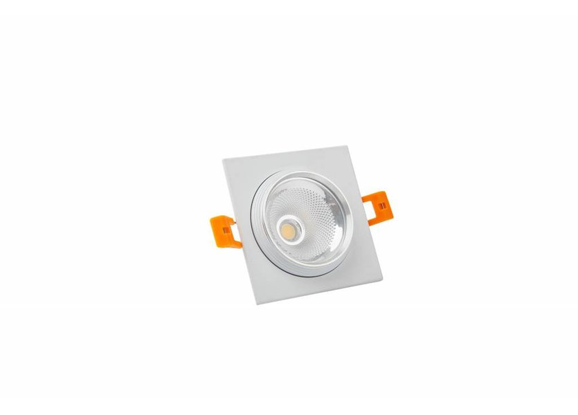 Vierkante witte downlight