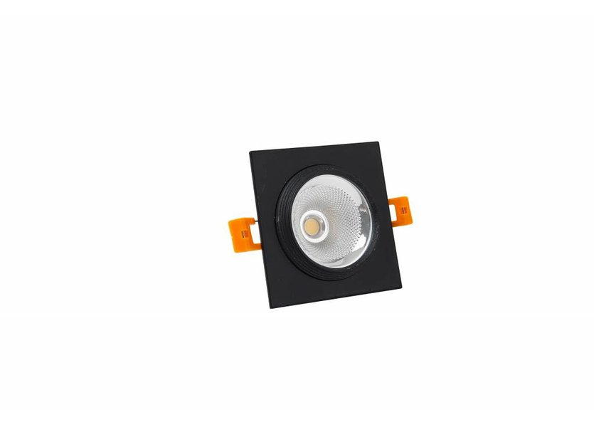 Vierkante Zwarte LED Downlight - Crius