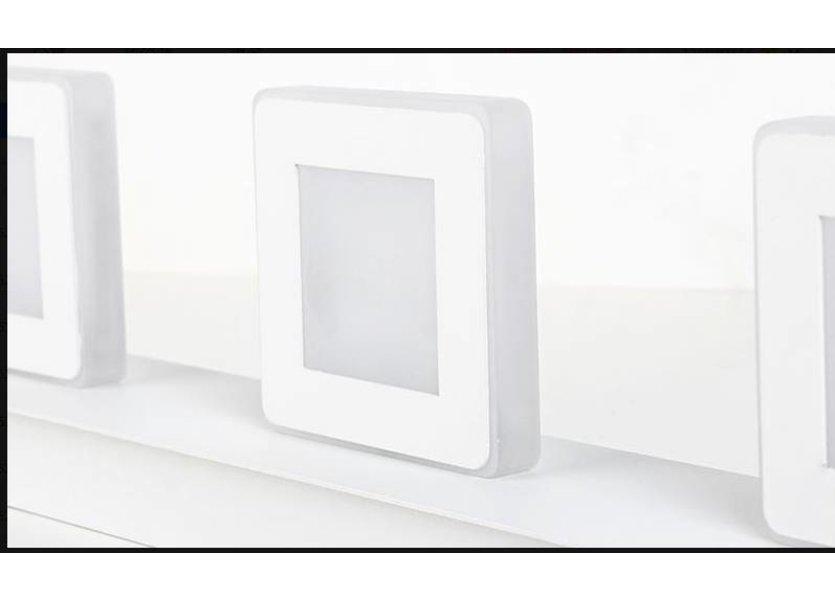 Spiegellamp Vierkant LED Wit 48 cm - Saniled Cermin