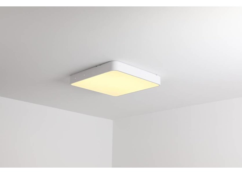 LED Plafondlamp Vierkant Wit 40 cm met ingebouwde LED  - Saniled Spechio Plafonnière