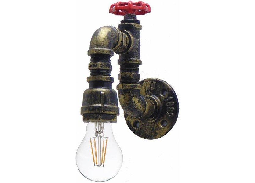 Industriële Wandlamp Waterleiding – Funnylights Fearow