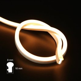 Funnylights LED Neon Flex Slang Warm Wit 1 meter 8mm x 16mm - Funnylights