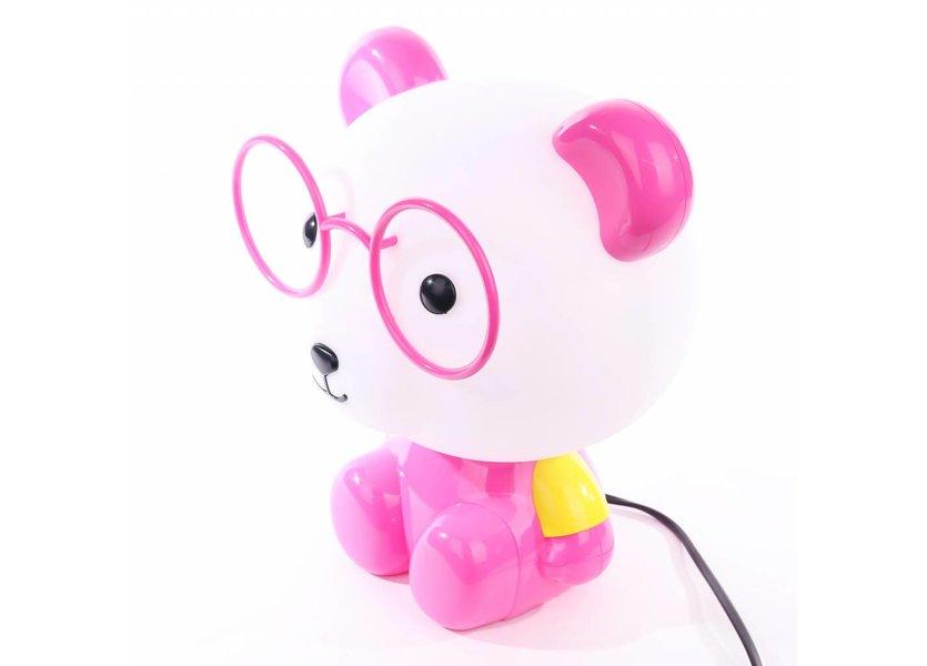 LED tafellamp panda roze