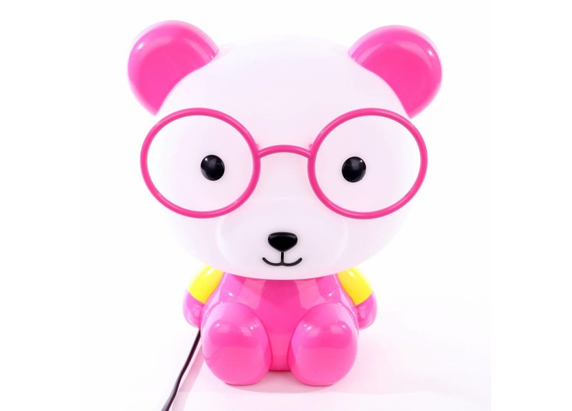 Tafellamp Panda Roze - Funnylights Minum