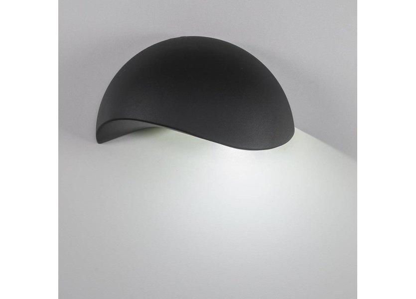 LED wandlamp 3 Watt - 3000K - IP65- Zwart