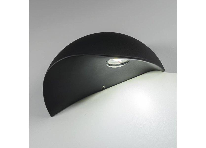Moderne LED Buiten Wandlamp Zwart – Gardenleds Rosa
