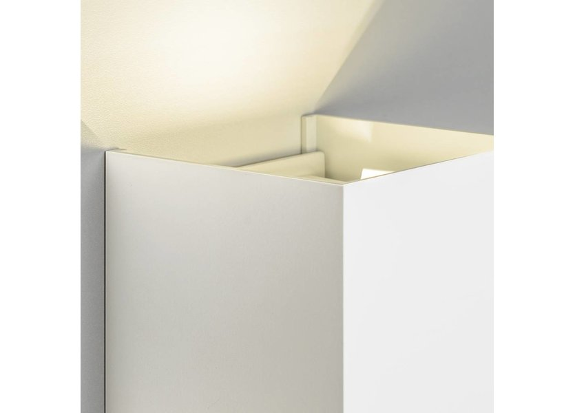 LED wandlamp 6 Watt - 3000K - IP65 - Wit