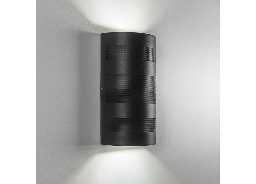 Moderne up down LED Buiten Wandlamp Zwart - Gardenleds Duna