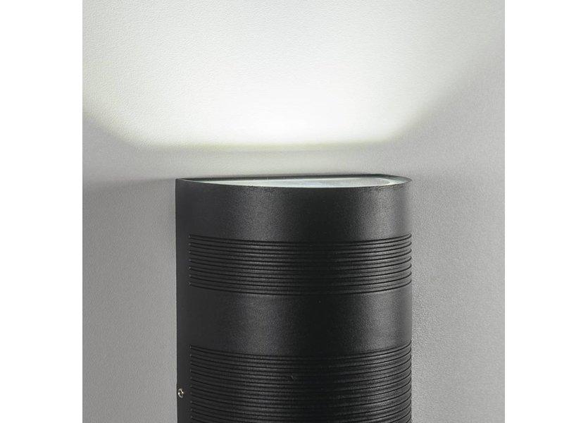 Moderne up down LED Buitenwandlamp Zwart - Garleds Duna
