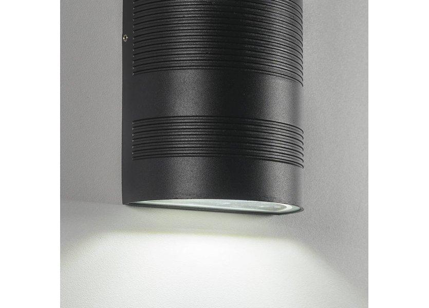 Moderne LED Buiten Wandlamp Zwart - Gardenleds Duna