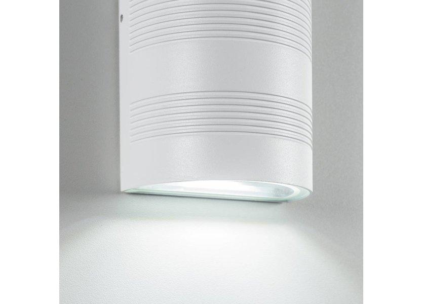 Moderne up down LED Buitenwandlamp Wit - Garleds Duna
