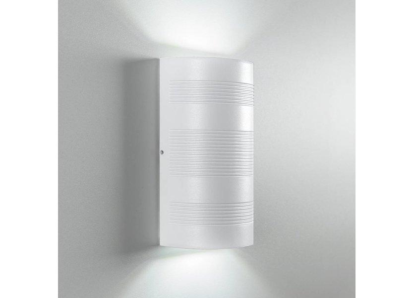 Moderne LED Buiten Wandlamp Wit - Gardenleds Duna