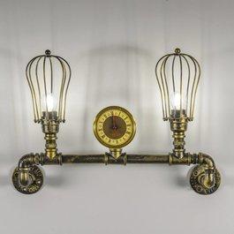 Funnylights Industriële Tweelichts Wandlamp Waterleiding - Funnylights Kakuna